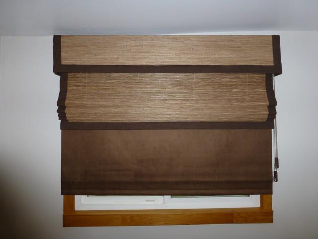 Horizon natural woven shades and averte natural fold for Natural woven flat fold shades