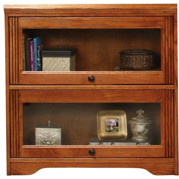 Bookcase w 2 Glass Front