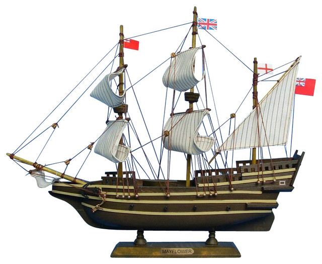 "Mayflower 14"" - Historic Ship Model traditional-home-decor"