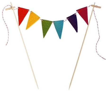 Poketo Rainbow Bunting Cake Flags modern-pastry-bags-and-tips