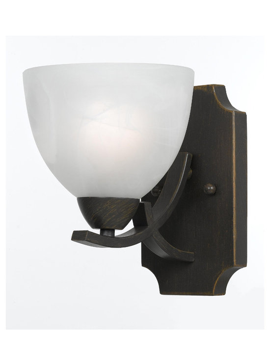 Triarch International - Triarch 33280/1-RUST Value Series Rust Wall Sconce - Triarch 33280/1-RUST Value Series Rust Wall Sconce