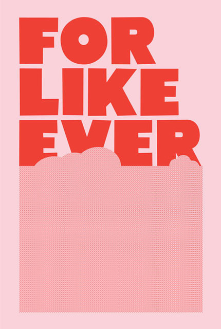 For Like Ever Poster, Pink & Red contemporary-artwork