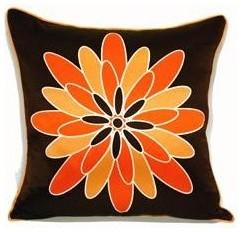 Dahila Silk Pillow modern-decorative-pillows