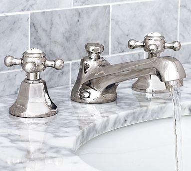 Cole Faucet, Polished Nickel finish traditional-bathroom-faucets-and-showerheads