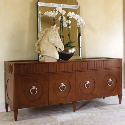 Global Views French Key Everything Cabinet in Dark Oak traditional-storage-cabinets