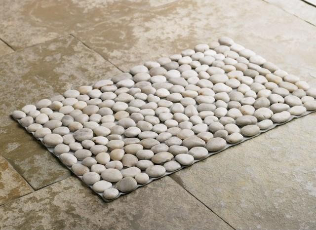 black river stone mat eclectic bath mats by vivaterra