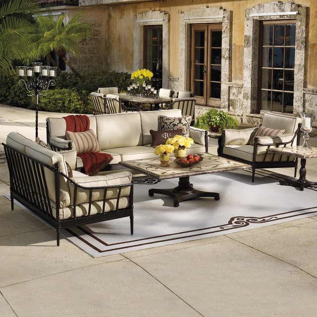 Sorrento Seating Set Mediterranean Outdoor Lounge Sets by FRONTGATE