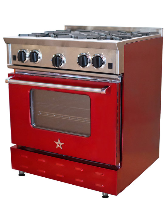 "30"" BlueStar Range in Ruby -"