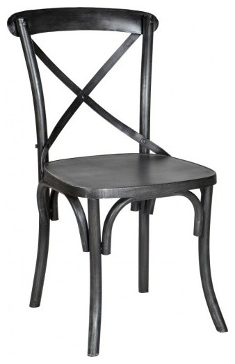 Metal Industrial X Back Chair Industrial Dining Chairs Other Metro By