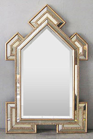Art Deco Cathedral Mirror - Modern - Wall Mirrors - by Glam Furniture