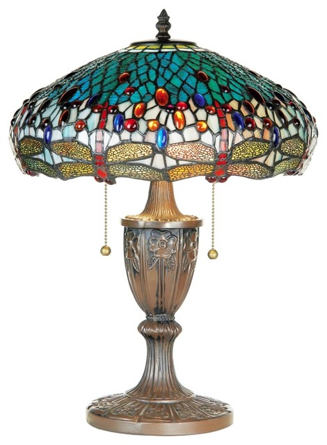 Tiffany Dragonfly Tiffany Style Table Lamp traditional-table-lamps