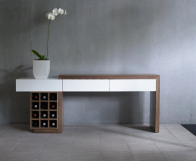 Console tables modern console tables other metro - Table console chene ...