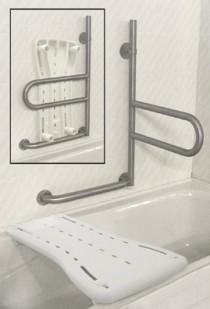 "Dependa-Bar, 18""/46cm Lower Grab Bar, Stainless Steel, Knurled modern-toilet-accessories"