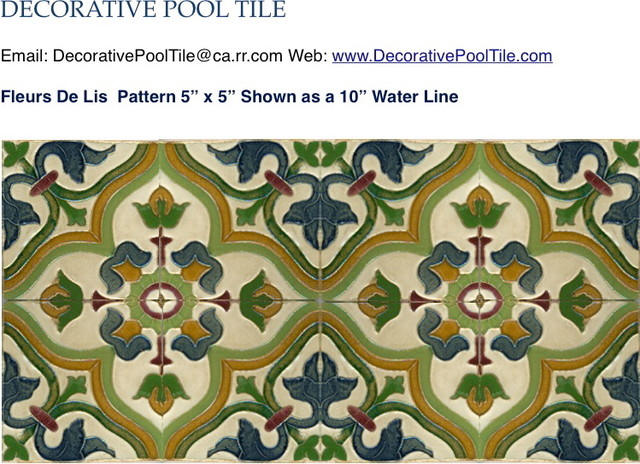 Fleur De Lis Spanish Tile Mediterranean Perth By