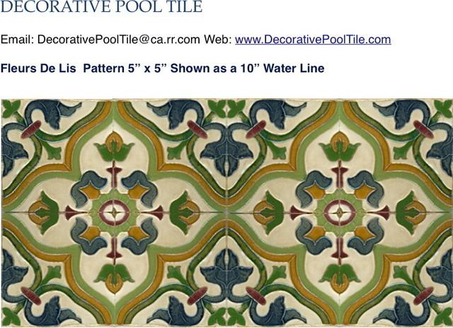 Fleur de lis spanish tile mediterranean perth by for Decorative spanish tile