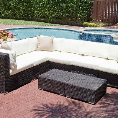 Source Outdoor Manhattan All-Weather Wicker Sectional - modern ...