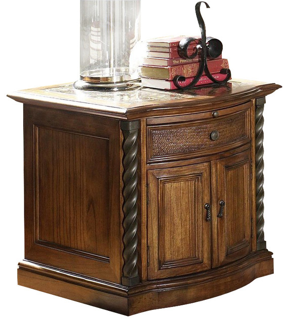 riverside medley door commode table in camden wildwood taupe transitional side tables and. Black Bedroom Furniture Sets. Home Design Ideas