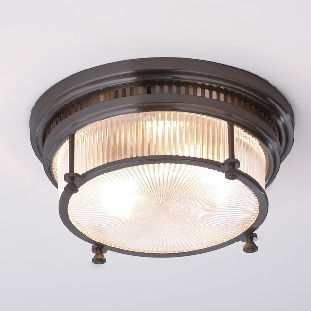 fresnel glass industrial flushmount ceiling light flush