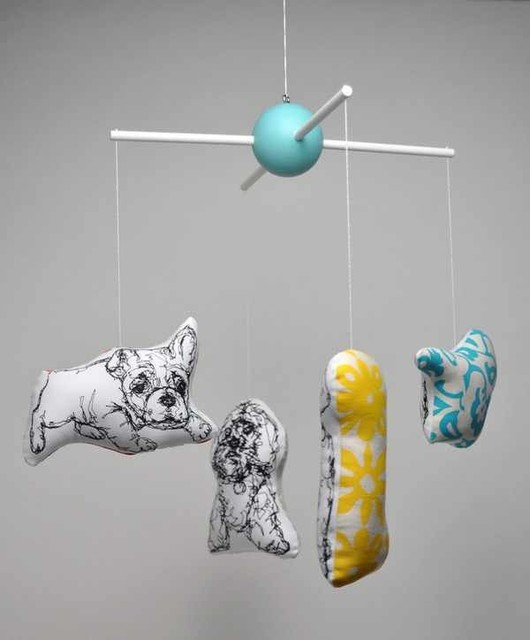 KLT works Chasing Tails Puppy Mobile modern mobiles