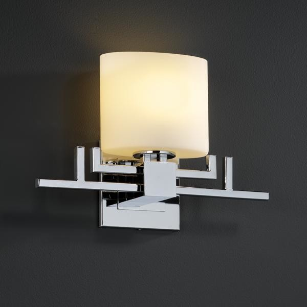 Justice Design FSN-8711-30-OPAL-CROM Aero 1-Light Wall Sconce Fusion Collection wall-sconces