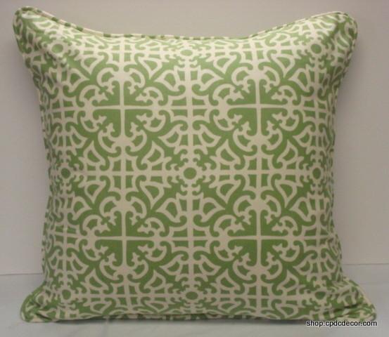 "Voila Pistachio | 24"" Square Pillows traditional-decorative-pillows"