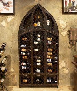 Wrought Iron Wine Rack - 42 Bottle