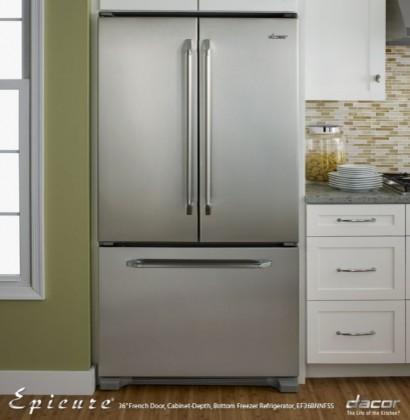 "EF36BNNFSS Renaissance Epicure 36"" Counter-Depth Bottom-Freezer French Door Refr contemporary-freezers"