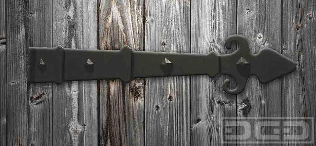Gate & Garage Door Iron-Forged Decorative Hinge Strap - Traditional - Hinges - orange county ...