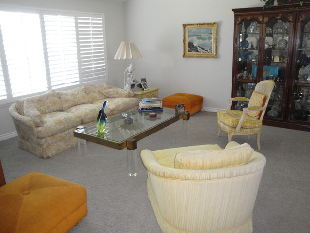 Tustin Living Room Makeover eclectic