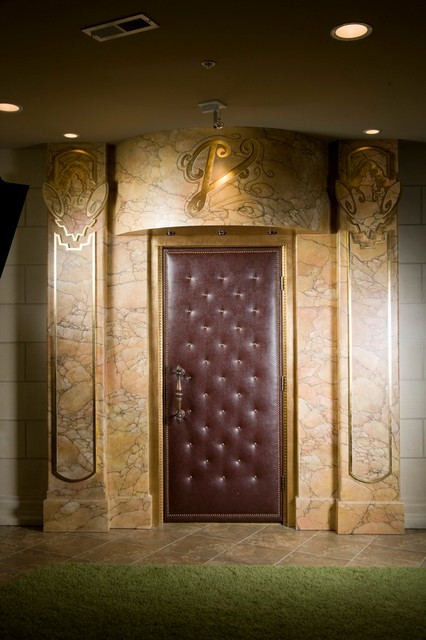 Home Theater Upholstered Doors And Walls Modern Window