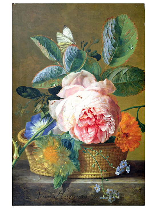 A Basket with Flowers, 1744 | Huysum | Canvas Print - Condition: Canvas Print - Unframed