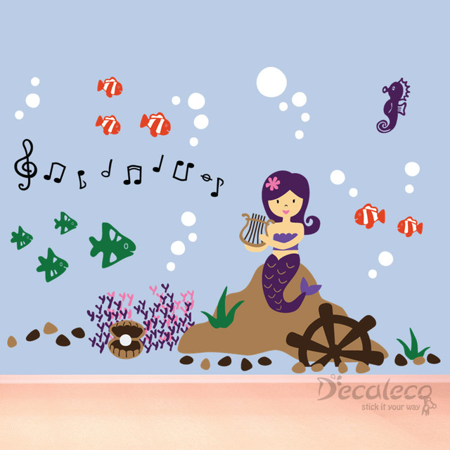 Molly the Mermaid (LARGE Wall Decal for nursery, kids room) kids-wall-decor