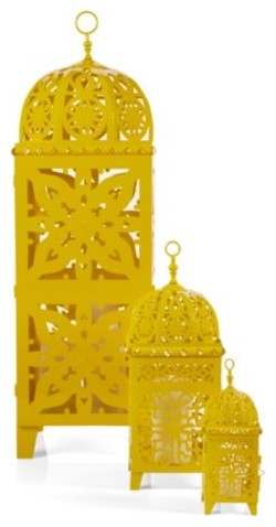 Casablanca Lanterns - Lemon modern-candles-and-candle-holders