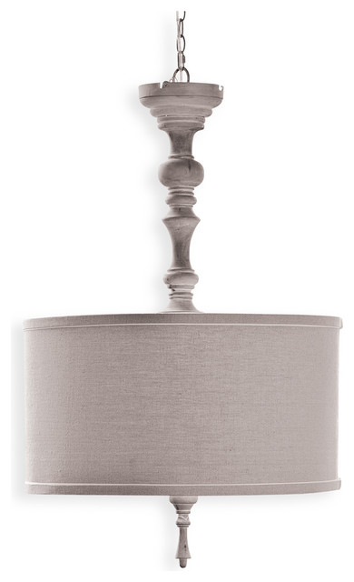 Verlaine French Country Wood Spindle Pendant transitional-pendant-lighting