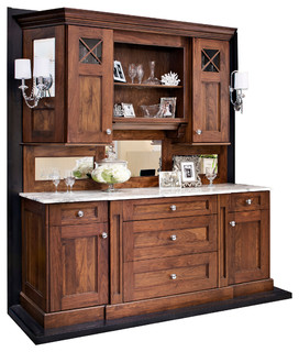 Walnut Hutch/ Buffet or Bar - Traditional - san francisco - by GOLDEN GATE KITCHENS