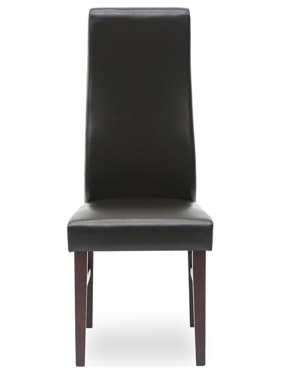 Bryght - Jagoda Faux Leather Upholstered Dining Chair - With its classic pared down look and modern undertones, the Jagoda parsons dining chair is an aesthetically pleasing addition to any dining room. Its charming S-shaped high back rest ensures a cozy sit any time of the day.