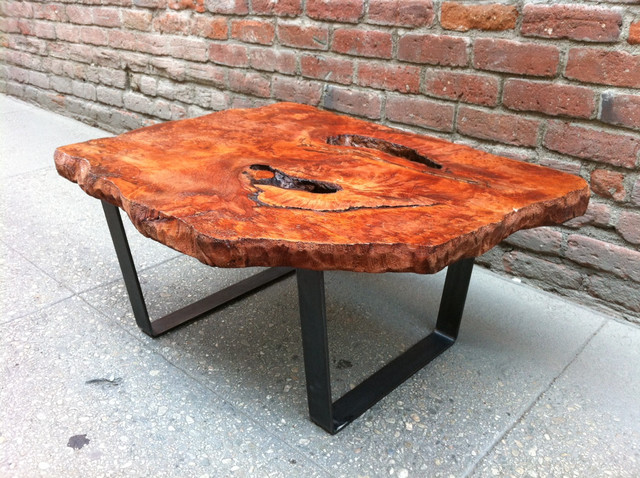 Redwood Burl Live Edge Coffee Table P10043 Rustic Los Angeles By Pasadenaville