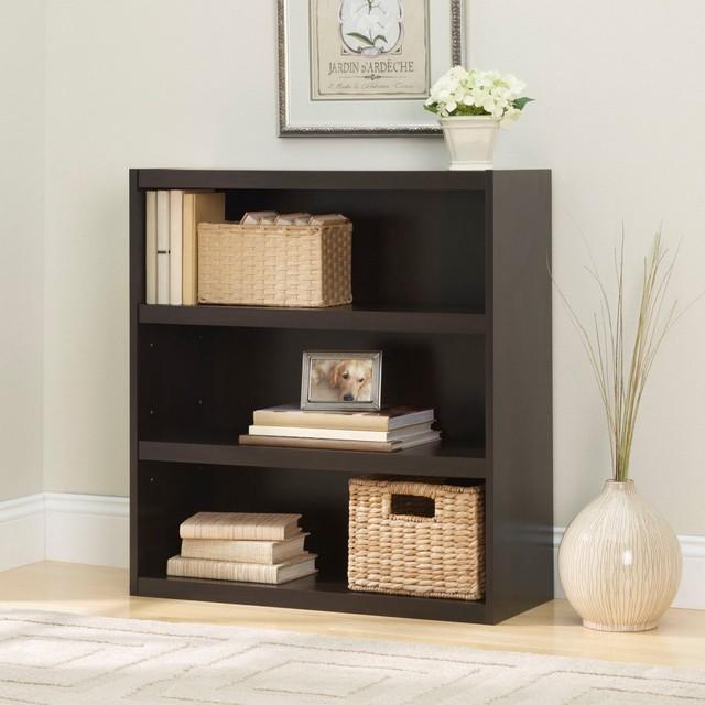 Ameriwood 3 Shelf Bookcase - Dark Russet Cherry ...