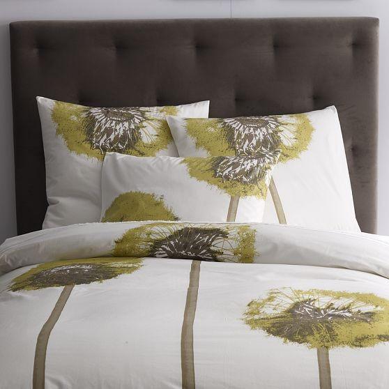 Organic Dandelion Duvet Cover + Shams modern-bedding