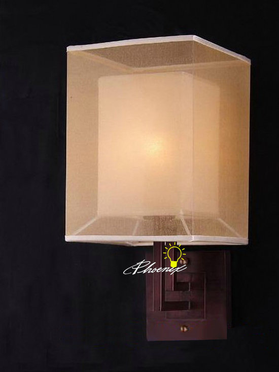 Antique 2 Layers of Fabric Wall Sconce and Bulbs - Antique 2 Layers of Fabric Wall Sconce and Bulbs