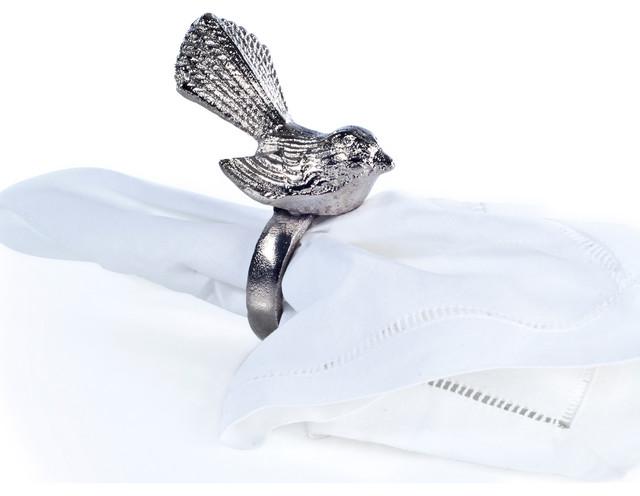 Aluminium Bird Napkin Ring modern-napkin-rings