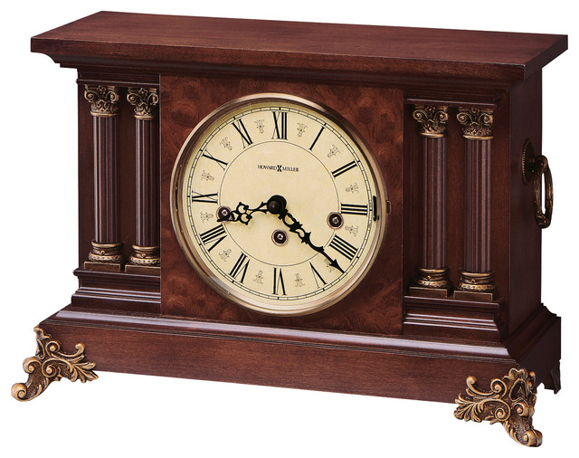Howard Miller Antique Style Key Wound Chiming Mantel Clock