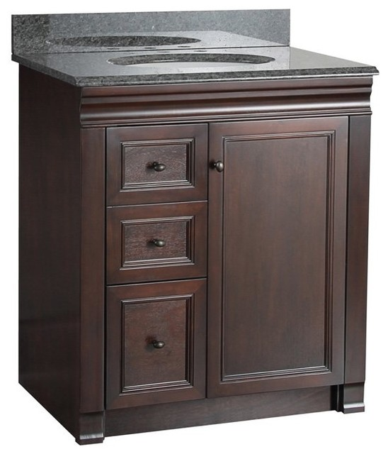 foremost shawna 30 in single bathroom vanity with right side drawers multicolor contemporary. Black Bedroom Furniture Sets. Home Design Ideas