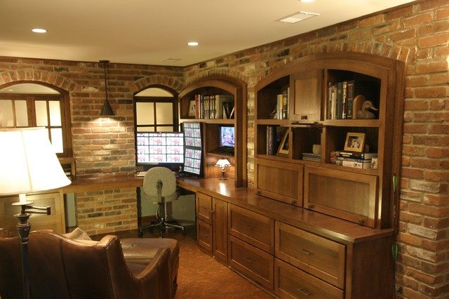 Basement Transformation - traditional - home office - minneapolis ...