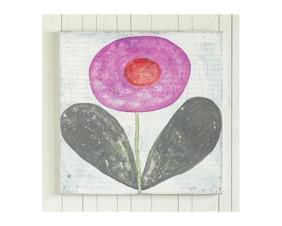 Xoxo Pink Flower Whimsical Print -