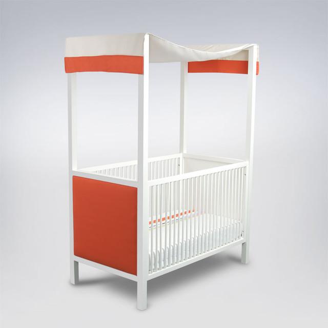 ducduc - cabana Canopy Crib - F3 Fabric modern-cribs