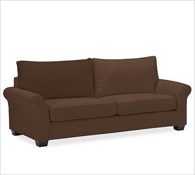PB Comfort Roll UpholsteredGrand SofaBrushed CanvasEspressoUpholsteredPoly traditional-sofas