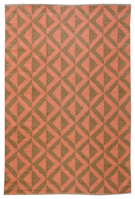 Medieval Area Rug - 4' x 6' - Cacao/Rust contemporary-outdoor-rugs