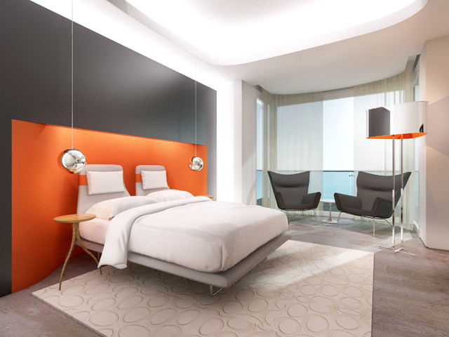 contemporary bedroom by David Howell Design