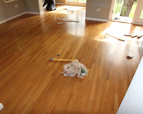 Residential remodel - Pacific Palisades - Original floor about to get pulled.